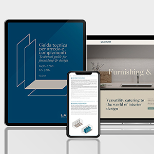 La experiencia de Laminam en 3 guías para la arquitectura, el diseño de interiores y el mobiliario