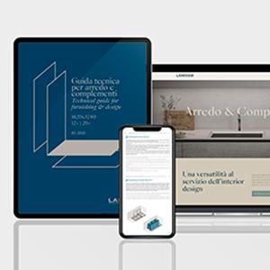 L'esperienza di Laminam in 3 guide tecniche per l'architettura, l'interior design e l'arredo